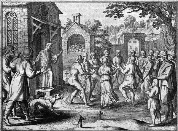 An artistic impression of  The Dancing Plague