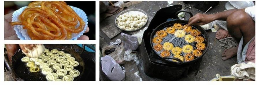 Jalebi Preparation by a street vendor