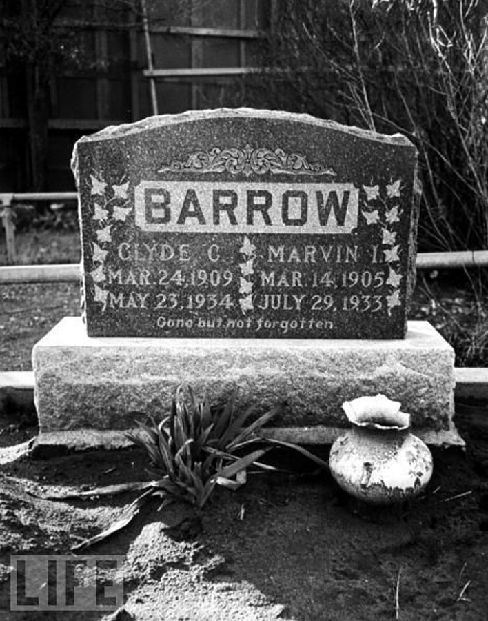 Epitaph of Clyde Barrow - Gone but not Forgotten