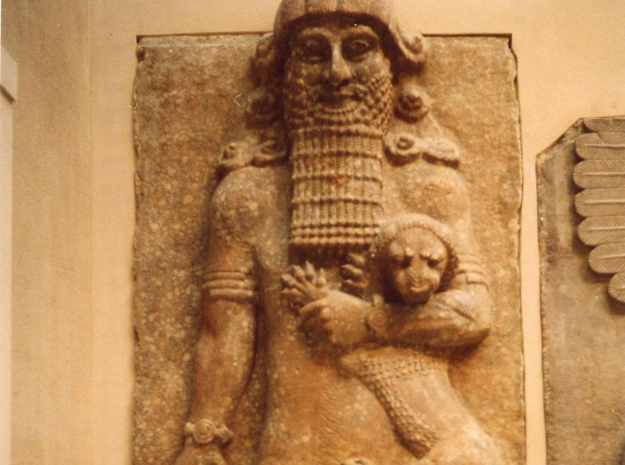 Gilgamesh strangling a lion
