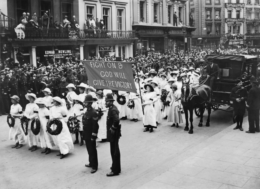 Funeral procession of Emily Davison in Morpeth, Northumberland - 13 June 1913