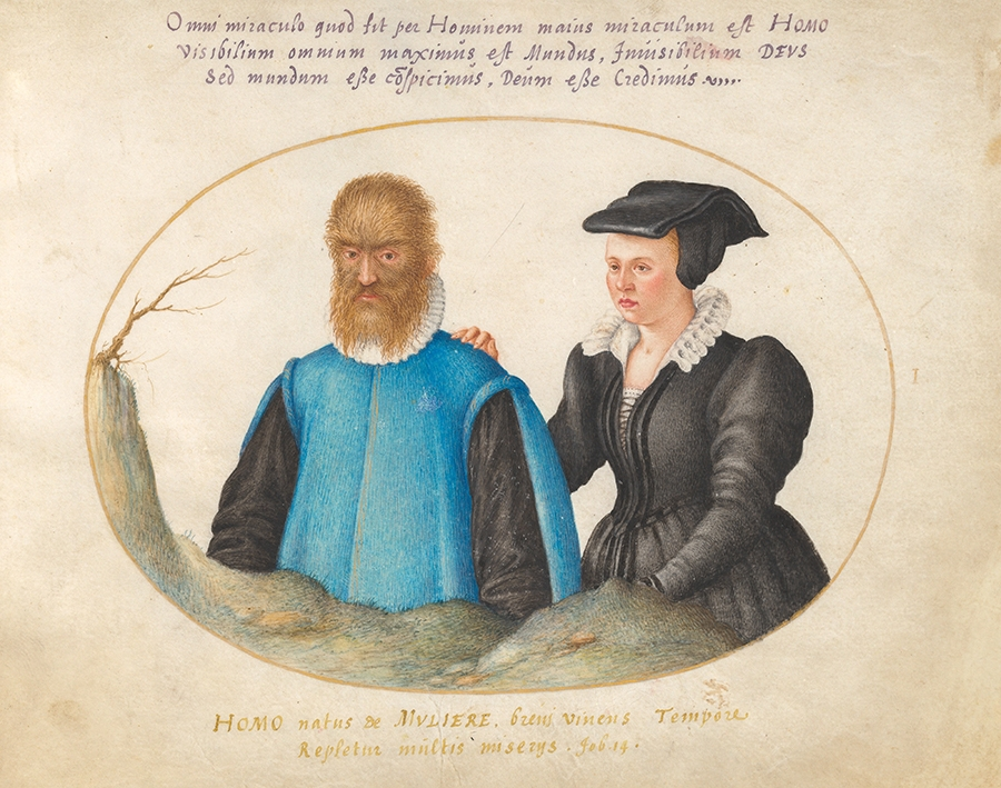 Petrus Gonsalvus with his wife