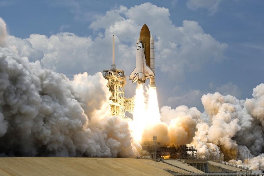 A modern rocket launch