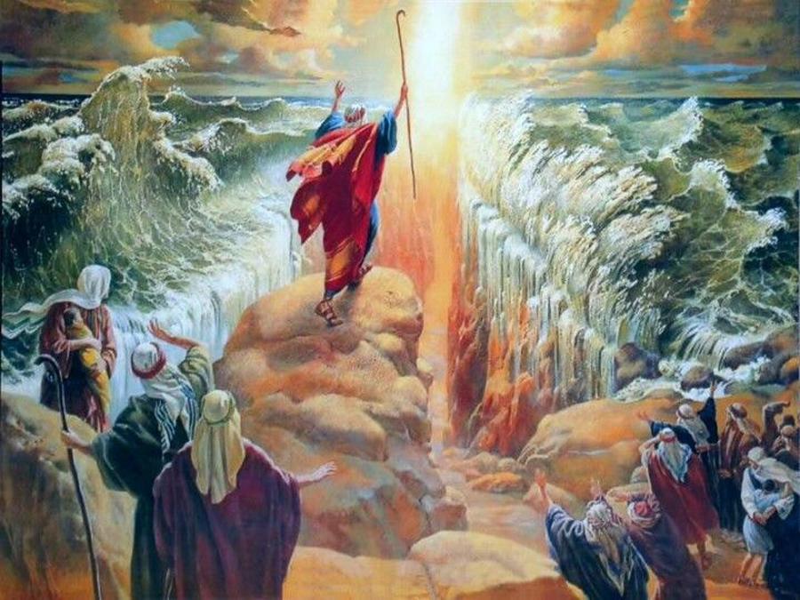 Exodus - Moses parting the Red Sea