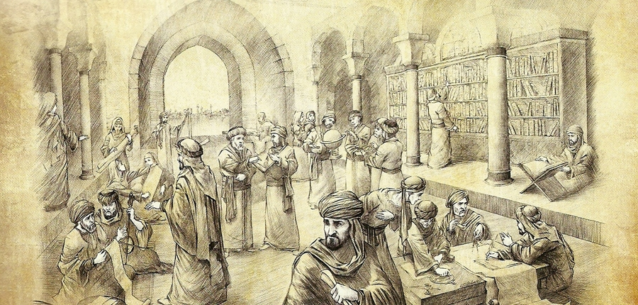An artist impression of House of Wisdom(Bayt al Hikma)