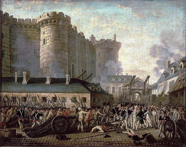 Storming of the Bastille and arrest of the Governor  de Launay, July 14, 1789.