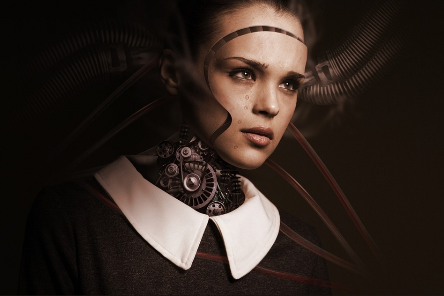 In near future, human consciousness can be transferred as digital mind into an android robot.