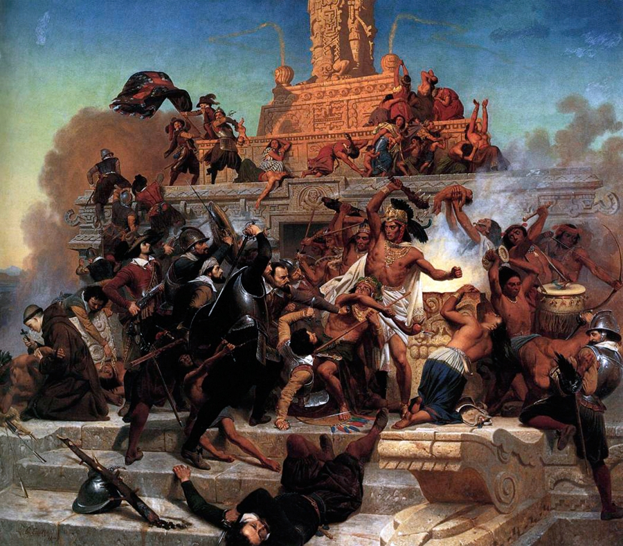 Storming of the Tenochitlan by Cortez and His Troops