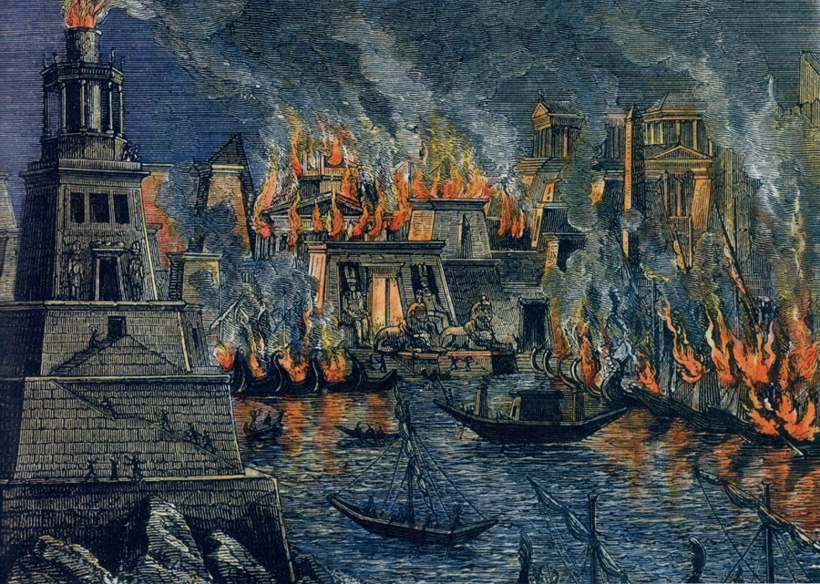 The destruction of the Library of Alexandria