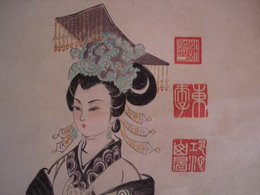 The only crowned female empress in Chinese history, Wu Zetian