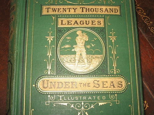 20000 Leagues Under the Sea, book cover, first English edition 1873