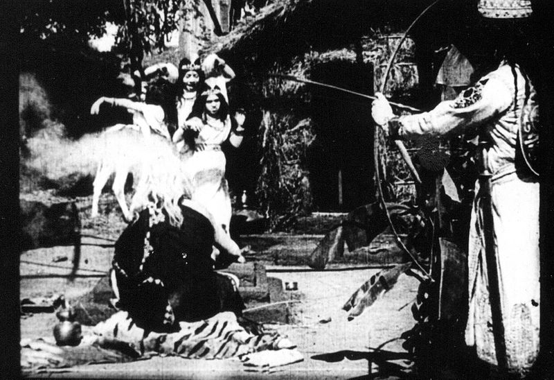 A scene from film Raja Harishchandra , India's first movie, made in 1913 - based on life of the mythological king