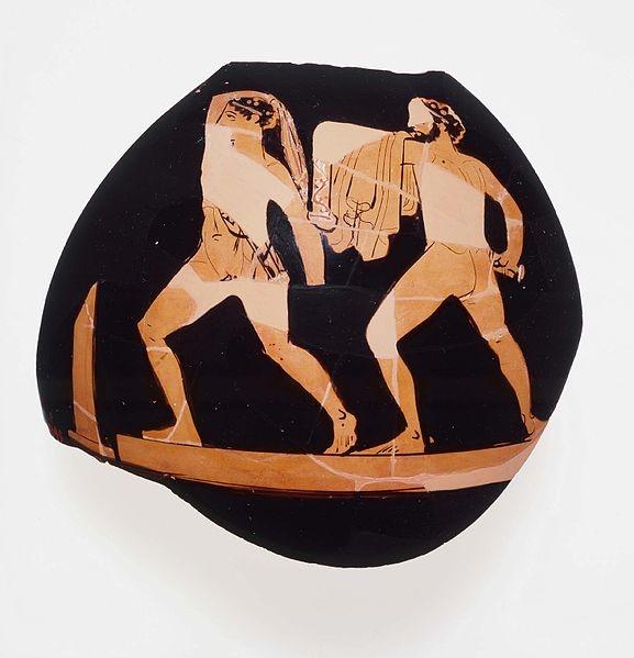 Harmodius and Aristogeiton. Attic black-figure vase