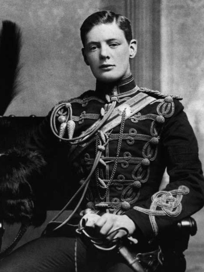 A rare photo of a young Winston Churchill. 1895