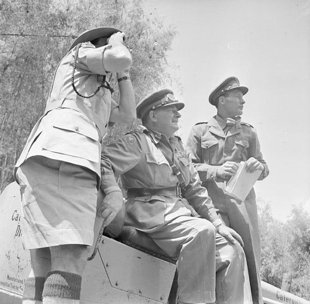 Lieutenant General Sir George Erskine, Commander-in-Chief,East Africa (centre), observing operations against the Mau Mau