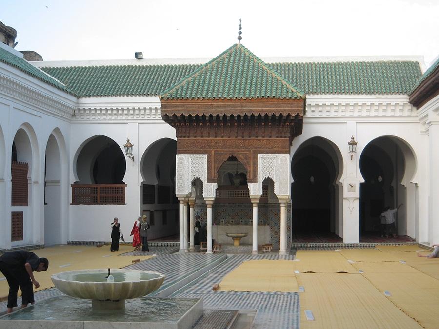 Courtyard, Al-Qarawiyyin University. Morocco