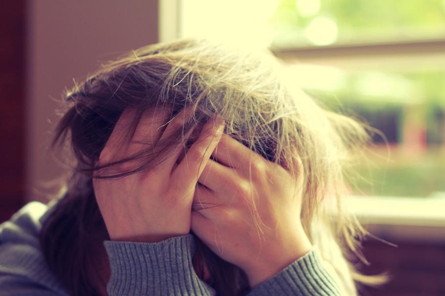 Stress can cause Telogen Effluvium