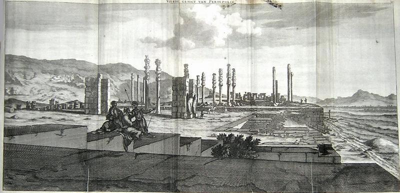 Sketch of Persepolis from 1704 by Cornelis de Bruijn.