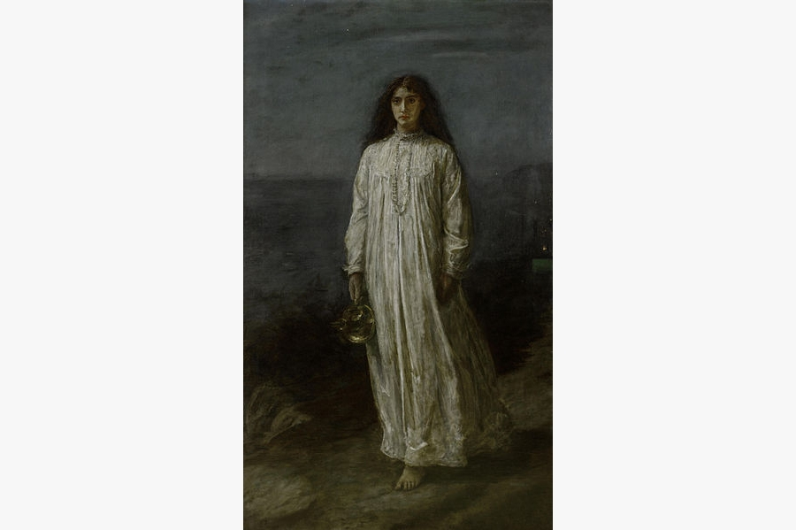 The Somnambulist - painting by John Everett Millais (made in the year 1871)