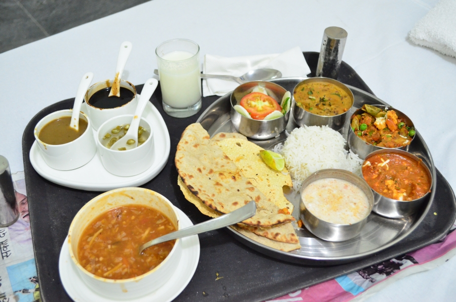 Typical North Indian Veg Thali