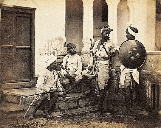 Photograph shows Rajputs, classified by British as upper caste (Photography was used by British to identify & classify different  castes).