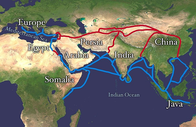 The Silk Road was a system of trade routes connecting East and West
