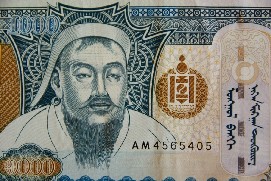 Genghis Khan's image in currency of Mongolia