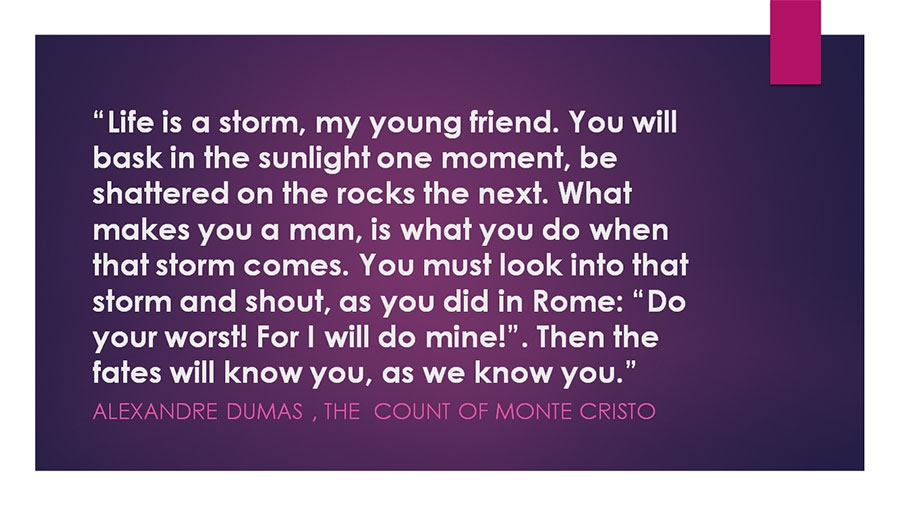 Famous lines from - The Count Of Monte Cristo