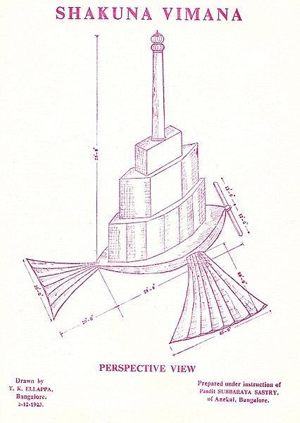 Illustration of the Shakuna Vahana from Vaimanika Shastra