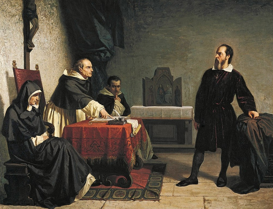 Galileo facing the Roman Inquisition