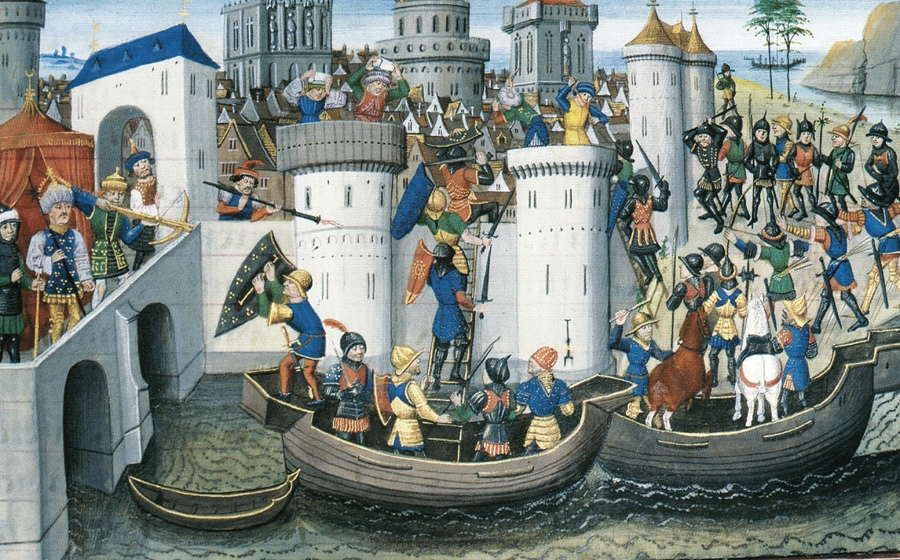 Conquest of Constantinople by the Crusaders in 1204 AD