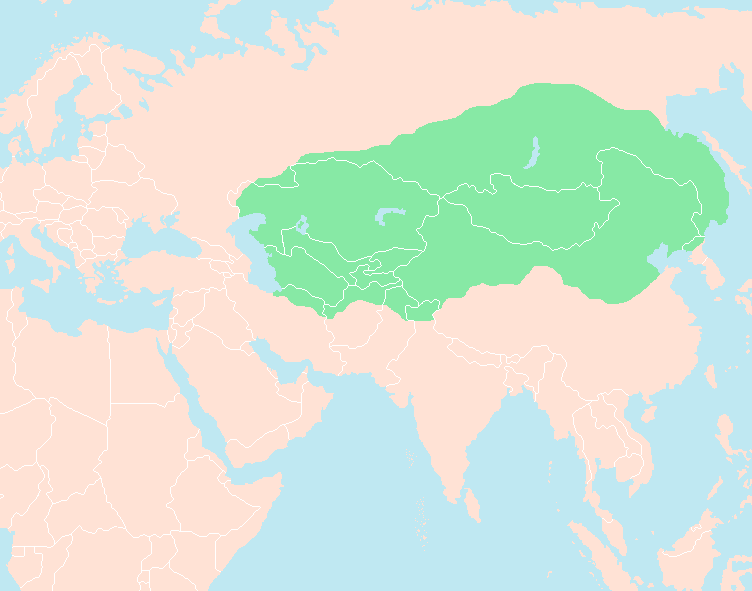Genghis khan's empire at the time of his death