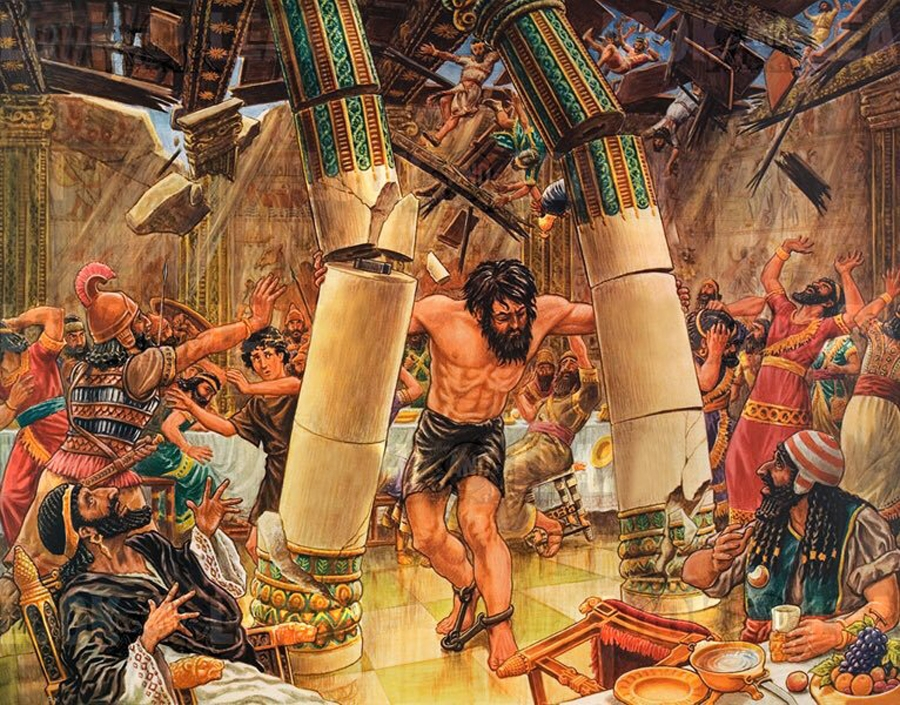Samson destroying the Philistine temple