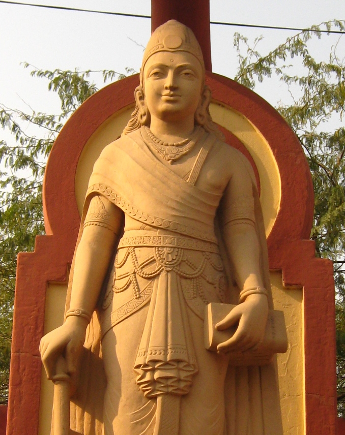 Statue of the great Indian emperor -  Chandragupt Maurya
