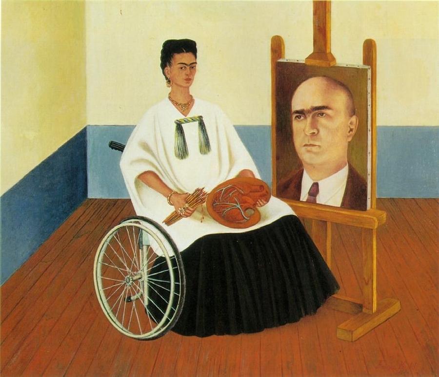 Self Portrait with the portrait of Dr Farril