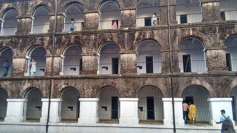 Closer view of Cellular Jail