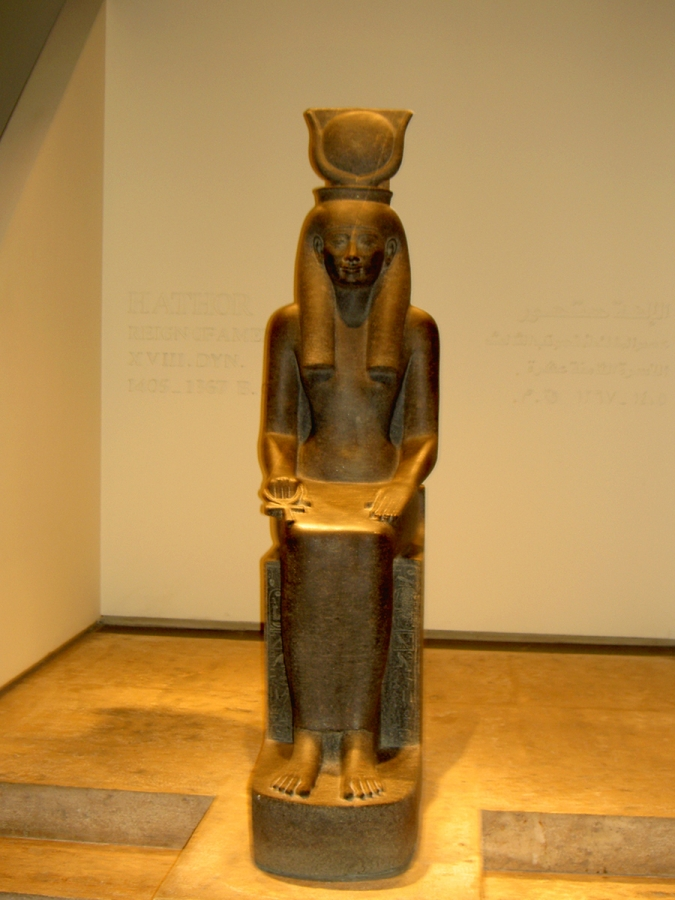 Statue of Egyptian Goddess Hathor from Luxur Museum Egypt