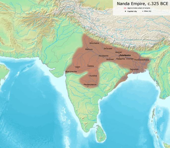 Nanda Empire ( 325 BCE) - was established by member of Shudra caste