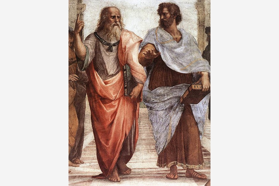 Plato (left) and  Aristotle(Right)